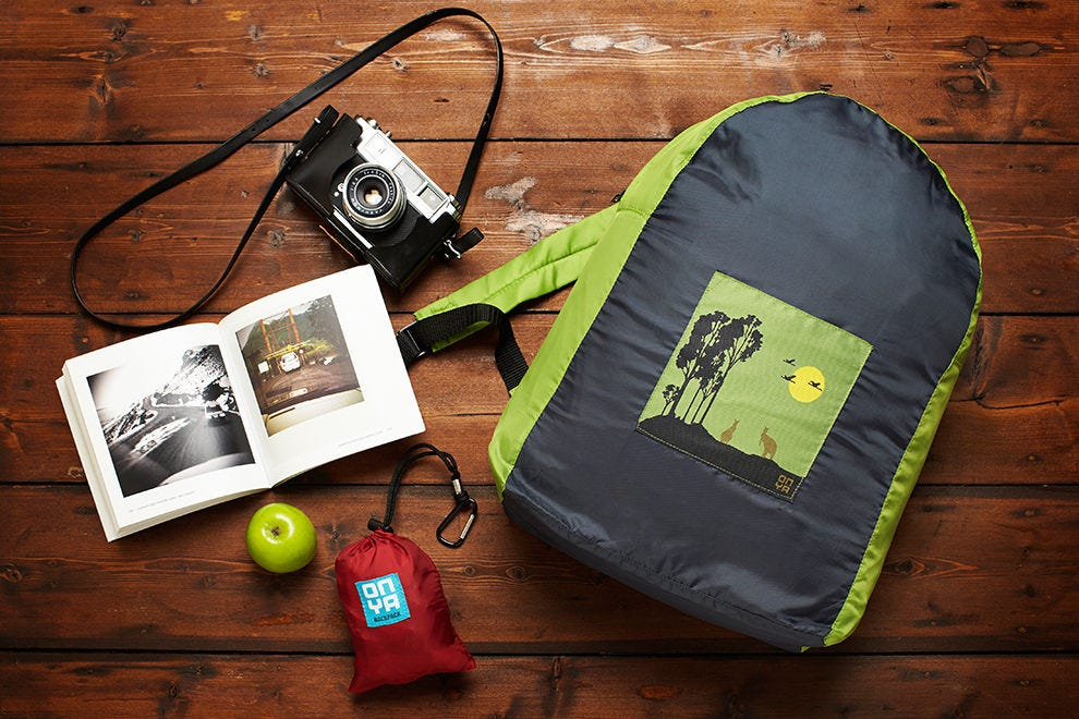 Recycled water bottle backpack