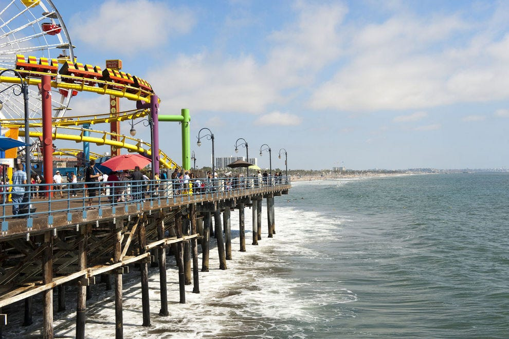 Vote Santa Monica Pier Beach Best California Attraction Nominee 2017 10best Readers