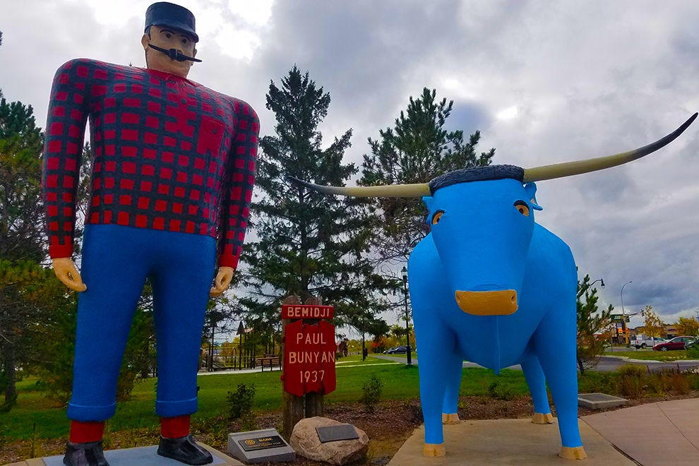 Paul Bunyan and Babe the Big Blue Ox