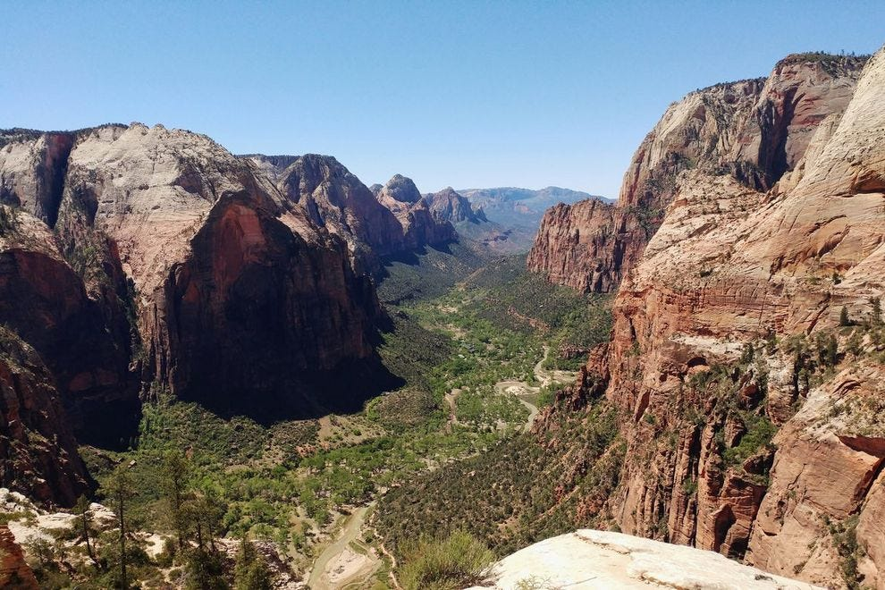 Angel's Landing was previously known as the Temple of Aeolus. The climb is 1,488 feet; elevation, 5.790