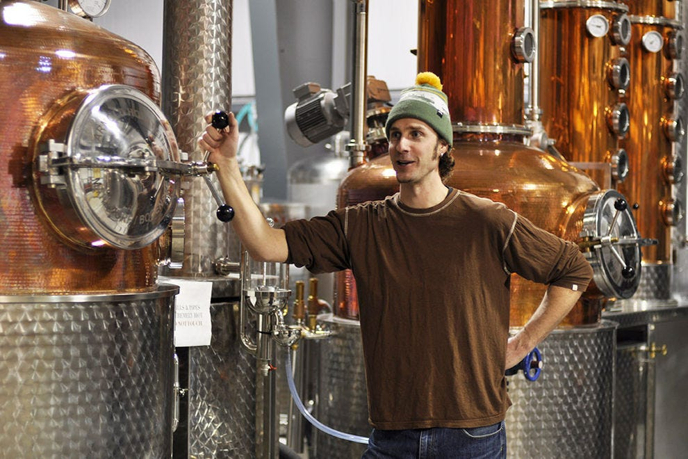 Master distiller and owner, Tyler Schramm