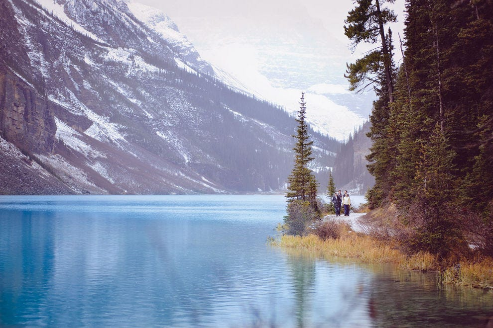 Lake Louise is shockingly blue