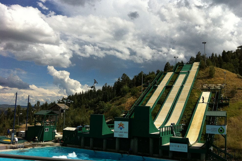 "Utah Olympic Park may be a ""winter"" sports venue, but summer visitor options include hiking, swimming, sliding, zip-lining and experiencing the Comet Bobsled Ride!"