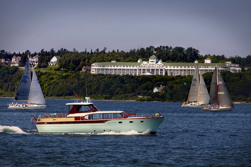 Watch boats navigate the Straits from your Grand perch