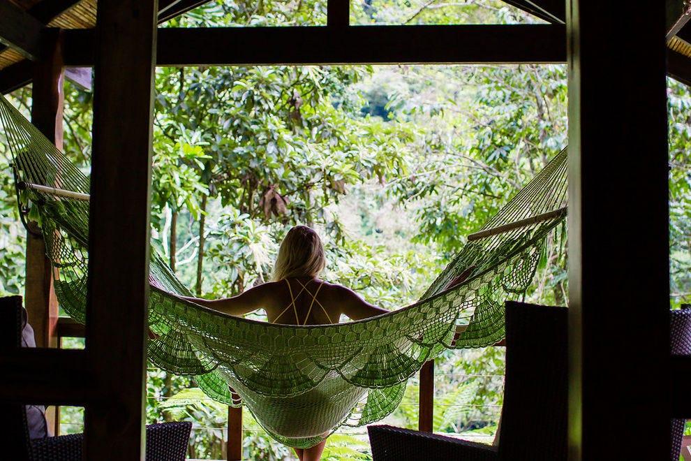treehouse hammock costa rica  u2014 photo courtesy of dani nichole photography you u0027ll want to relax in these 10 heavenly hotel hammocks  trip      rh   10best