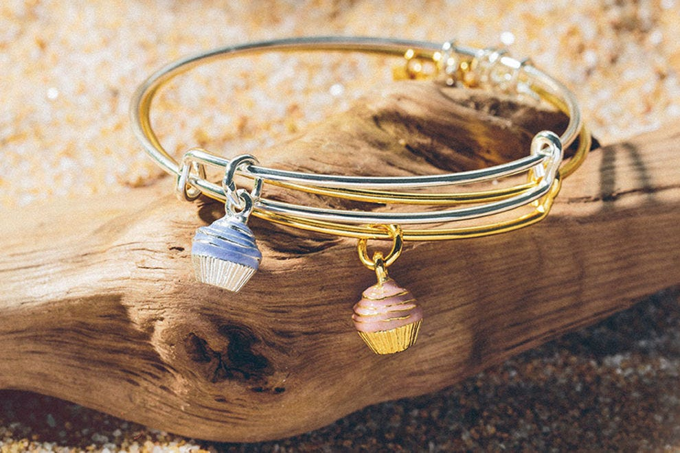 Alex and Ani Charity by Design Cupcake Charm Bangle benefiting Race to Erase MS