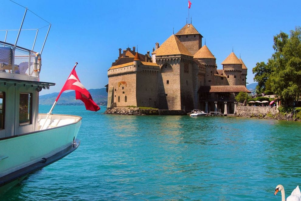 Step back into the 12th century at the Chillon Castle
