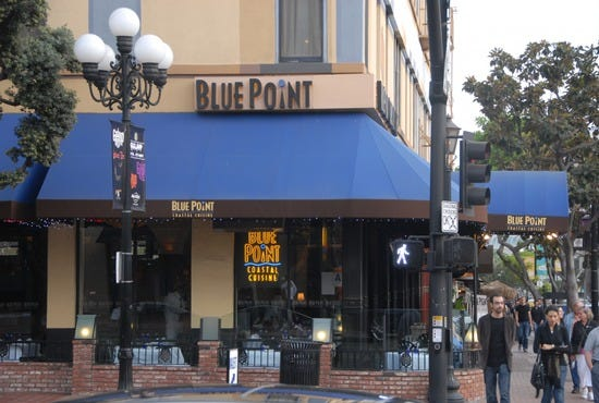Blue point coastal cuisine san diego restaurants review for American cuisine san diego