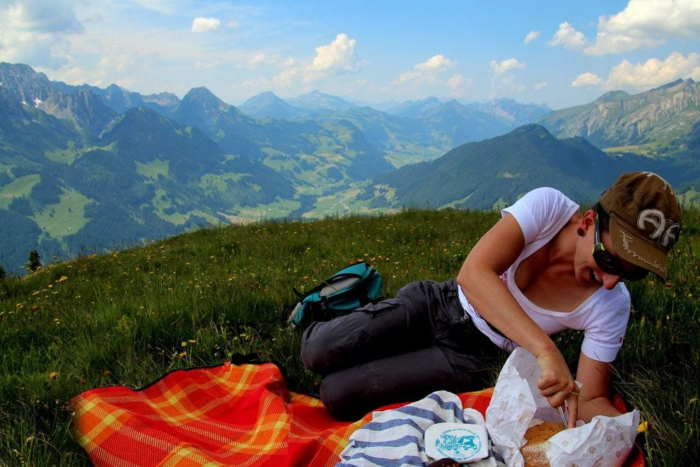 Picnic on the top of the world
