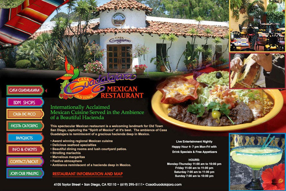 Casa Guadalajara San Diego Restaurants Review 10best
