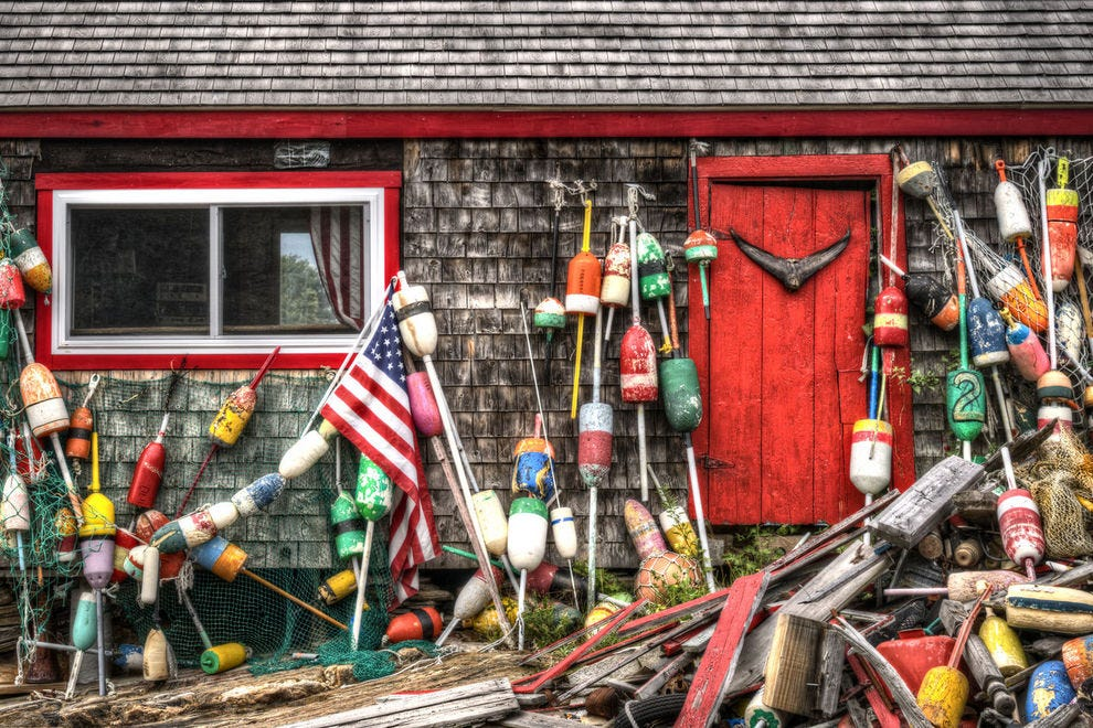 Lobster shack in Maine