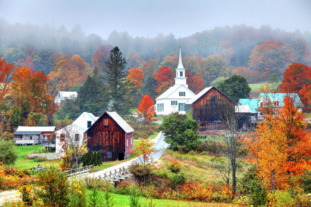 Rural Vermont in autumn