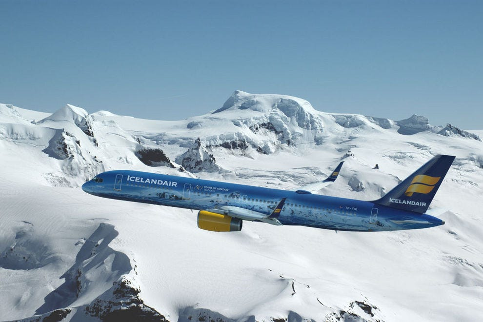 Icelandair offers festival packages; this is the company's newest Vatnajokull plane model