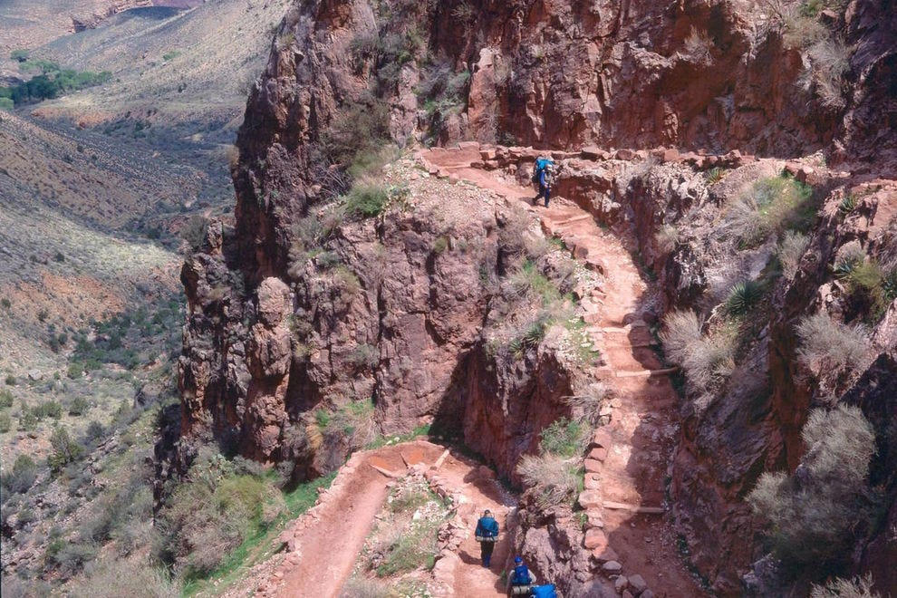 Bright Angel Trail switchbacks