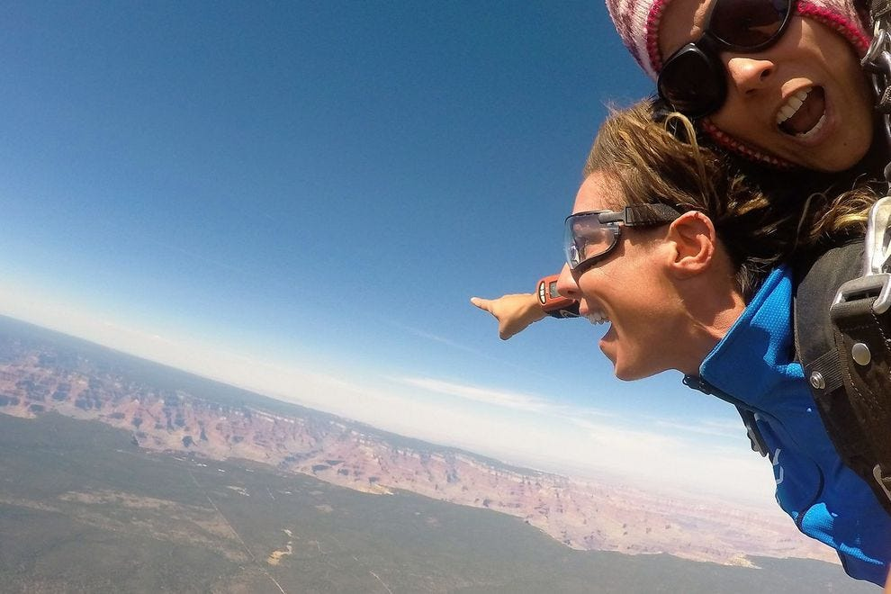 Skydiving over the Grand Canyon