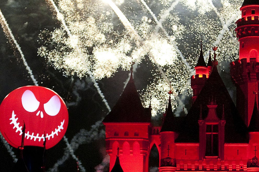 Halloween Screams fireworks at Mickey's Halloween Party