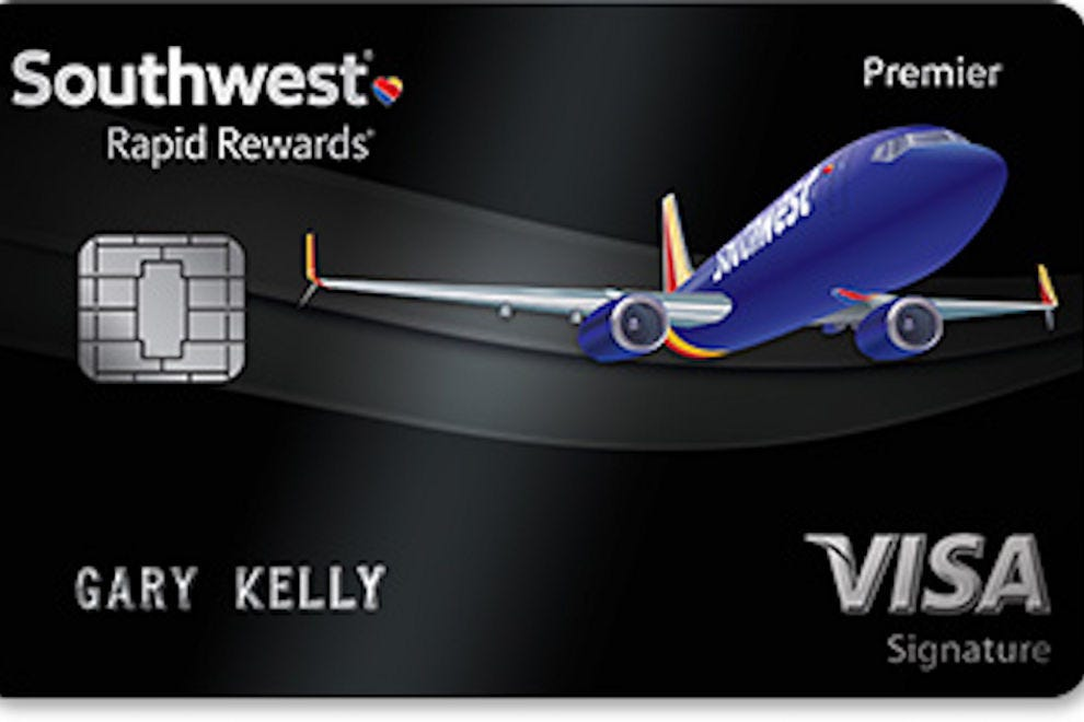 The Southwest Rapid Rewards® Premier Credit Card gives you twice as many loyalty points annually on your account anniversary date as does the Southwest Rapid Rewards® Plus Credit Card: 6,
