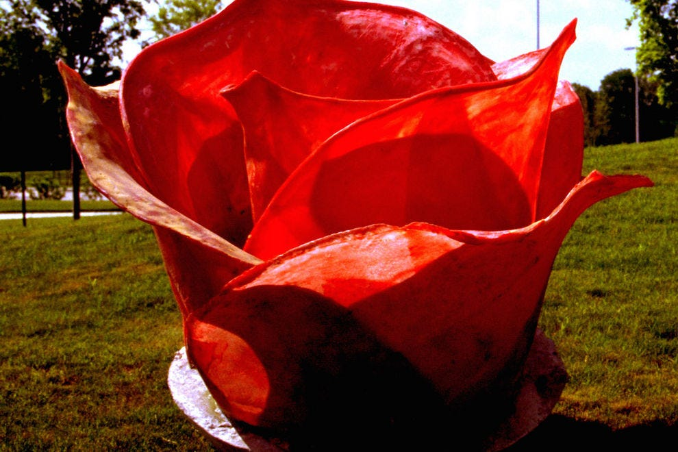<i>Tar Roses</i> by Dennis Oppenheim at Texas Sculpture Garden