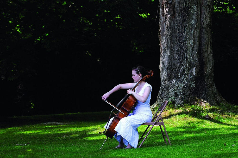 The Boston Symphony Orchestra plays at Tanglewood throughout the summer months