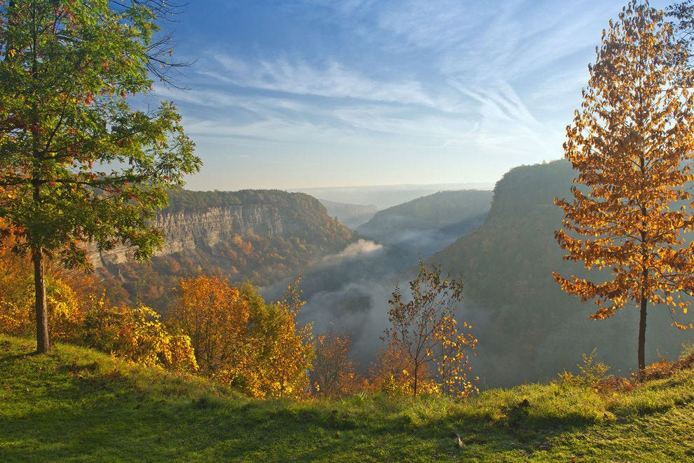 "Letchworth State Park is sometimes called the ""Grand Canyon of the East"""