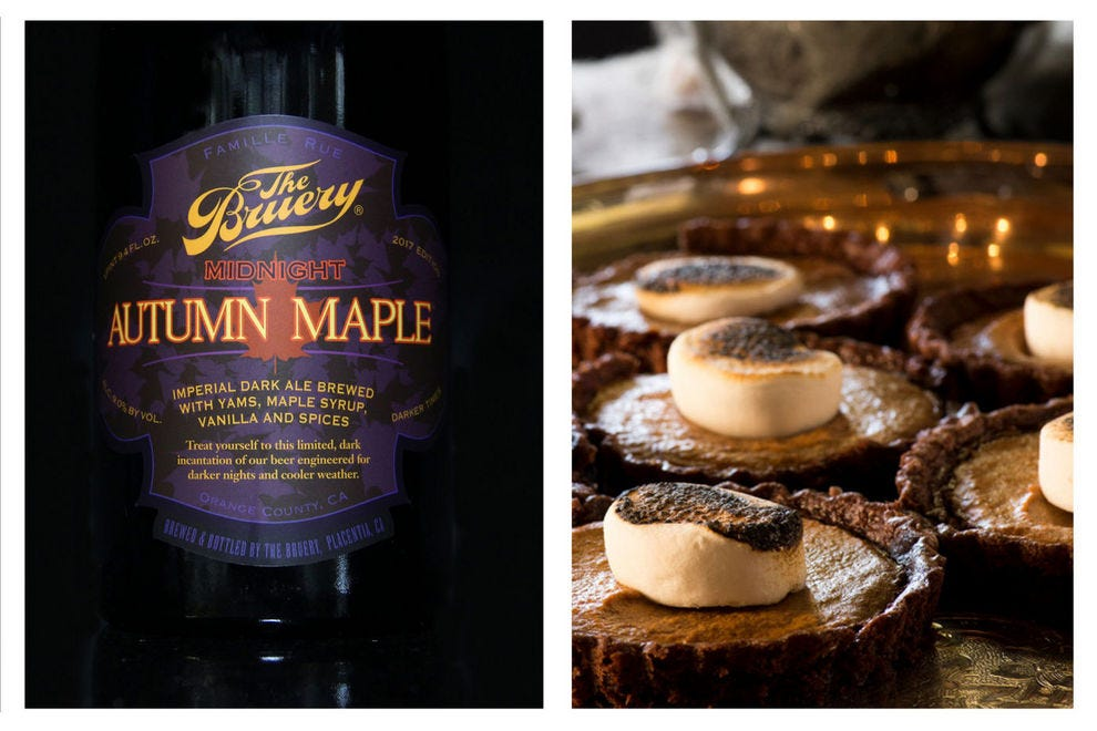 A decadent beer, like Midnight Autumn Maple, calls for a decadent dessert