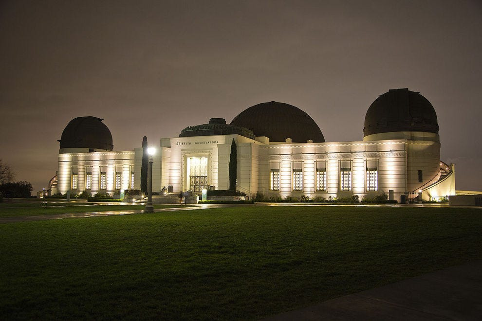 Beautiful Griffith Observatory by night