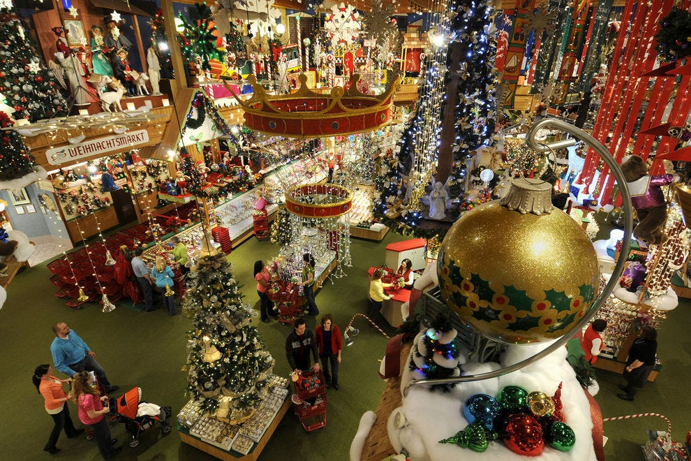 Christmas ornaments and more abound at Bronner's CHRISTmas Wonderland