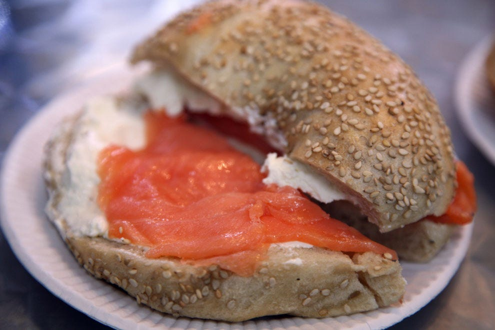 New York is known for having the best bagels