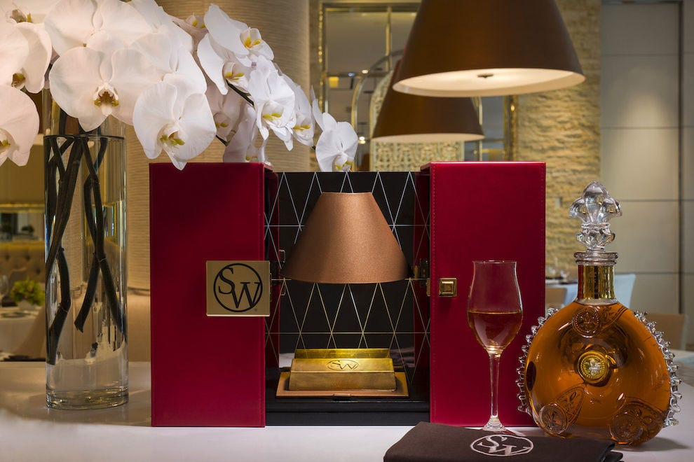 Louis XIII 23K Gold Bar at SW Steakhouse