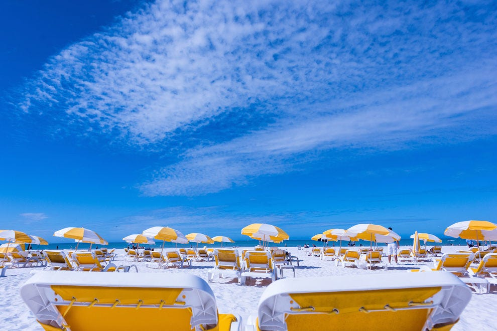 The pure white sugar sand is one reason Clearwater is named one of Florida's best beaches