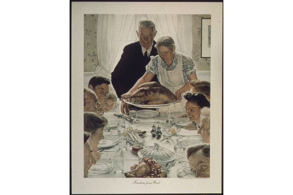 Norman Rockwell's <i>Freedom from Want</i>
