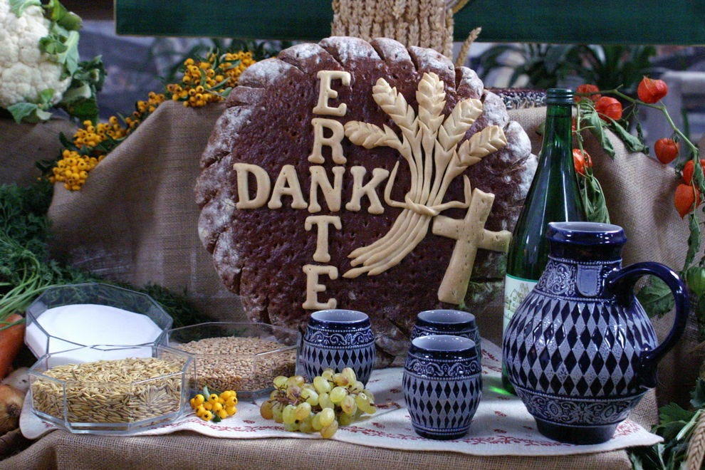 An Erntedankfest celebration
