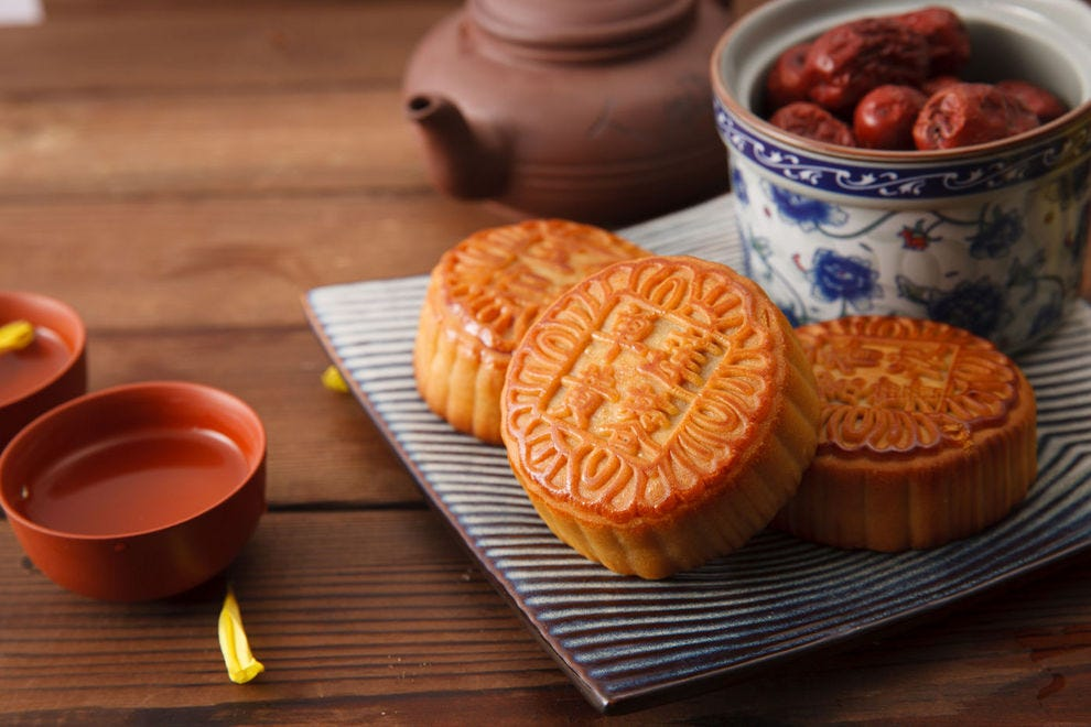 A traditional mooncake