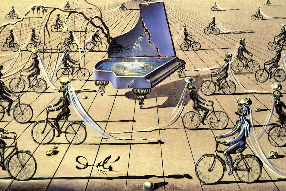 Sentimental Colloquy by Salvador Dali, 1944, oil and India ink on canvas