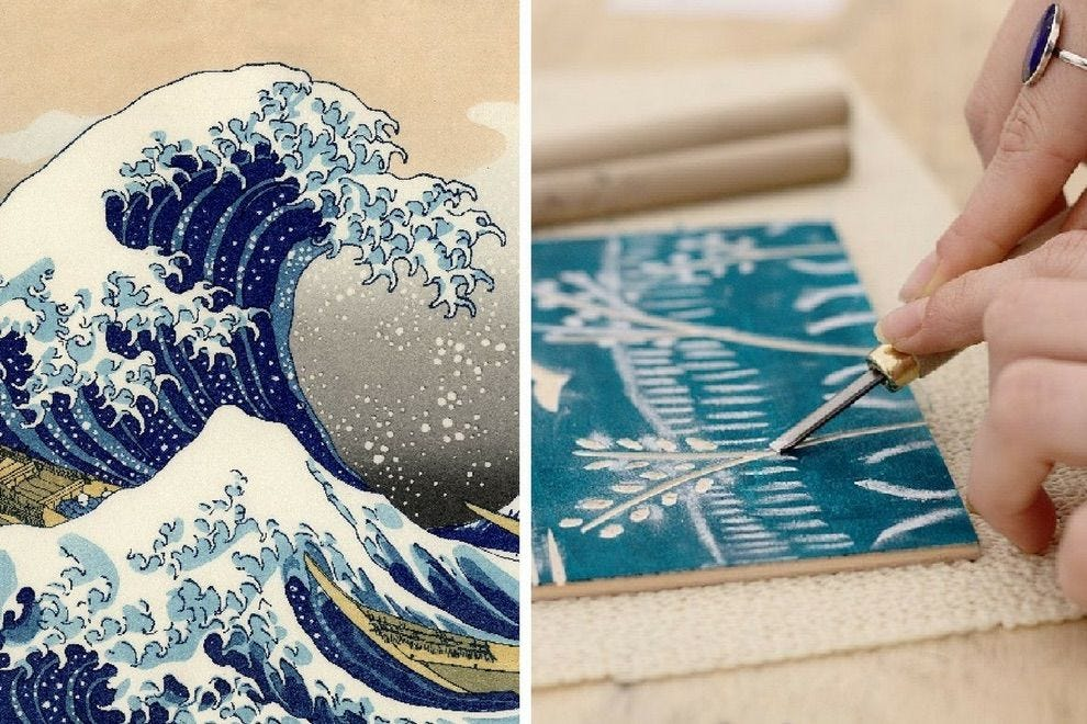 Get creative at the Japanese woodblock carving and printing class at ADX Portland