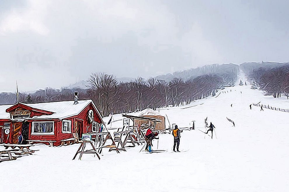 The White Grass Ski Touring Center gives access to the snowy Cabin Mountains of West Virginia