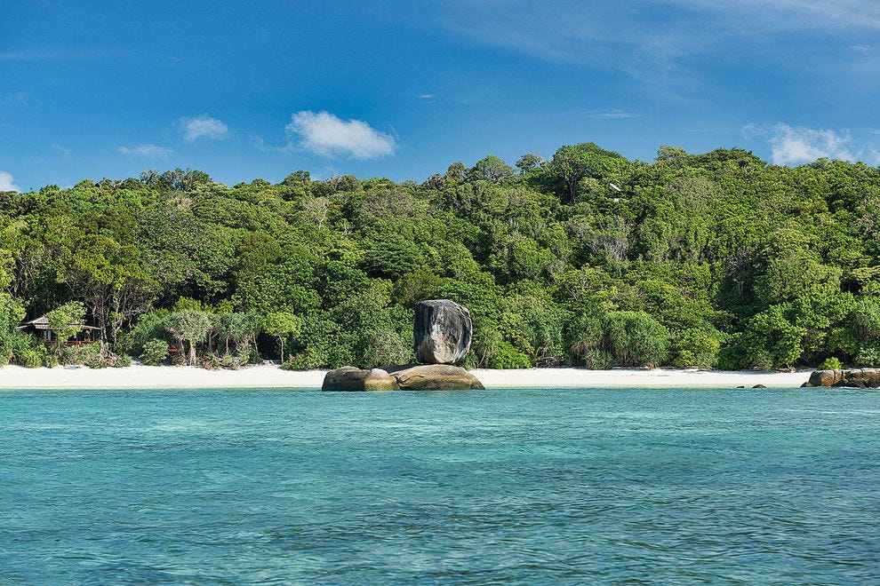 Boulder Island is one of the Mergui's star attractions