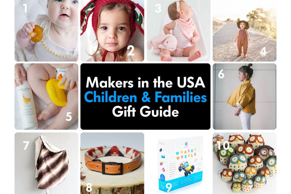 These American makers craft gift-able items for kids and families
