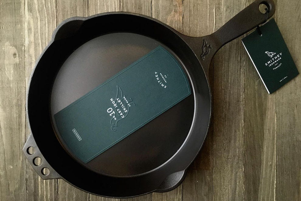 Handcrafted cast iron skillet from Smithey