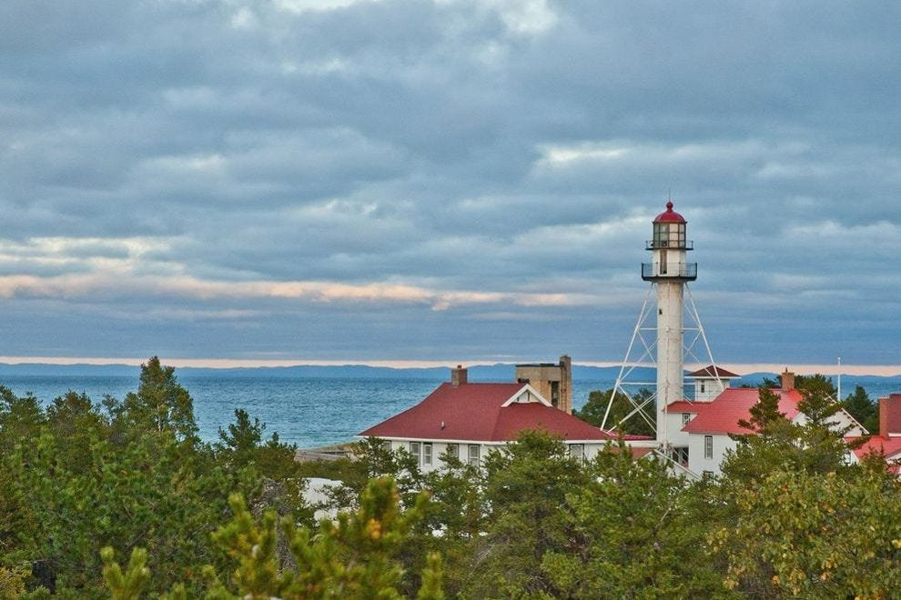 The beautiful Whitefish Point Light Tower