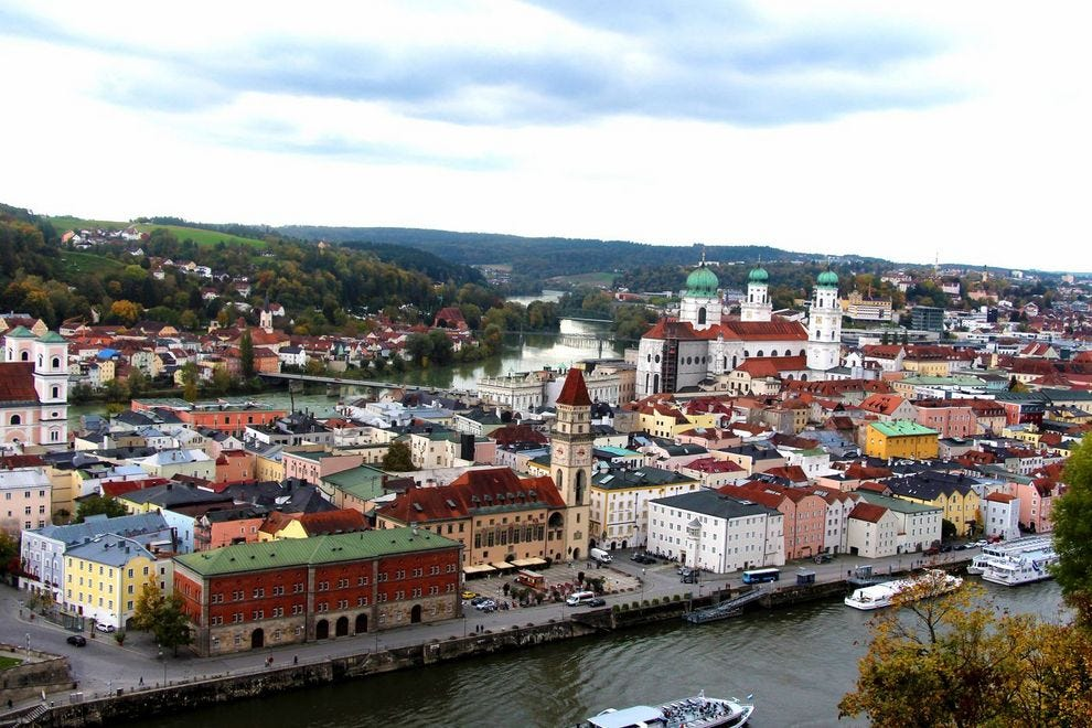 First port of call: the ancient city of Passau