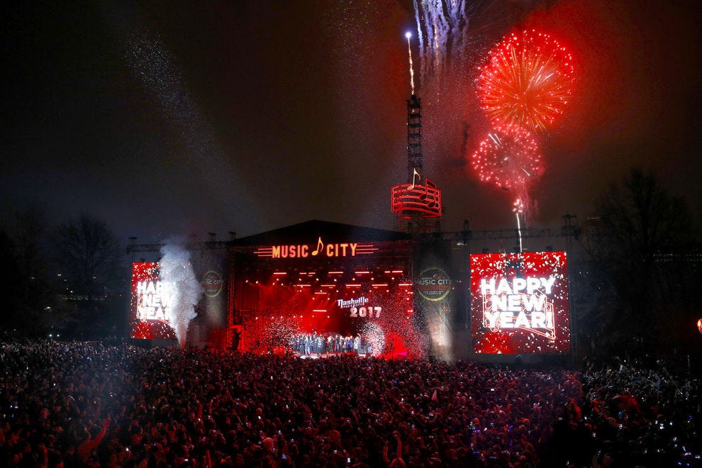 Nashville drops a giant music note to ring in the new year