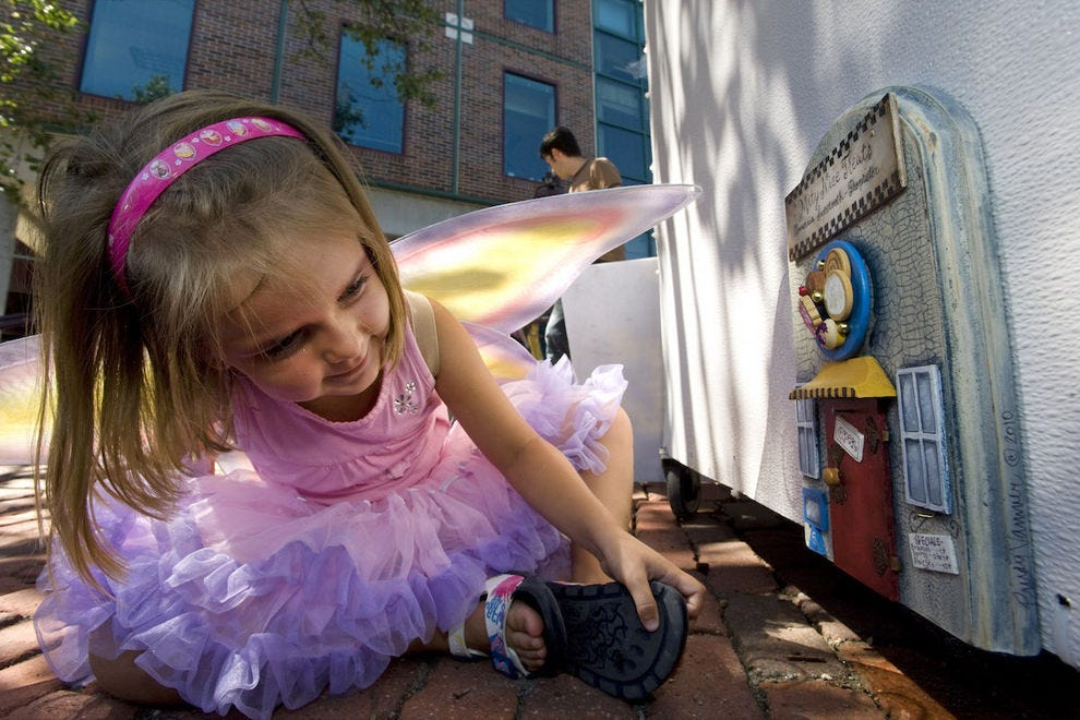 Little girls aren't the only ones who love discovering Ann Arbor's fairy doors