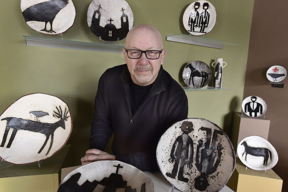 Ceramicist Stephen Kerr at Yourist Studio Gallery
