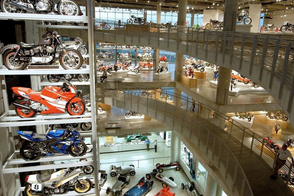 Motorsports enthusiasts can see 1,600 vintage motorcycles on display at the Barber Vintage Motorsports Museum