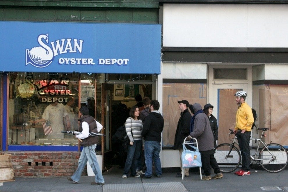 Swan oyster depot san francisco restaurants review for Best fish restaurants in san diego