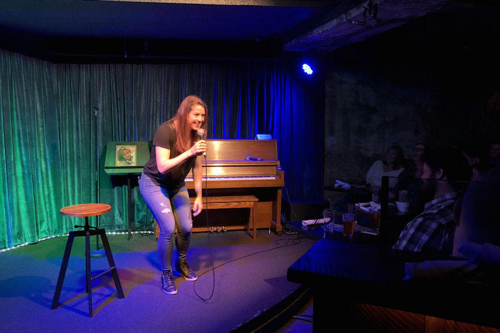 Comedian Brooke Heinichen at Sketchfest at Doc's Lab