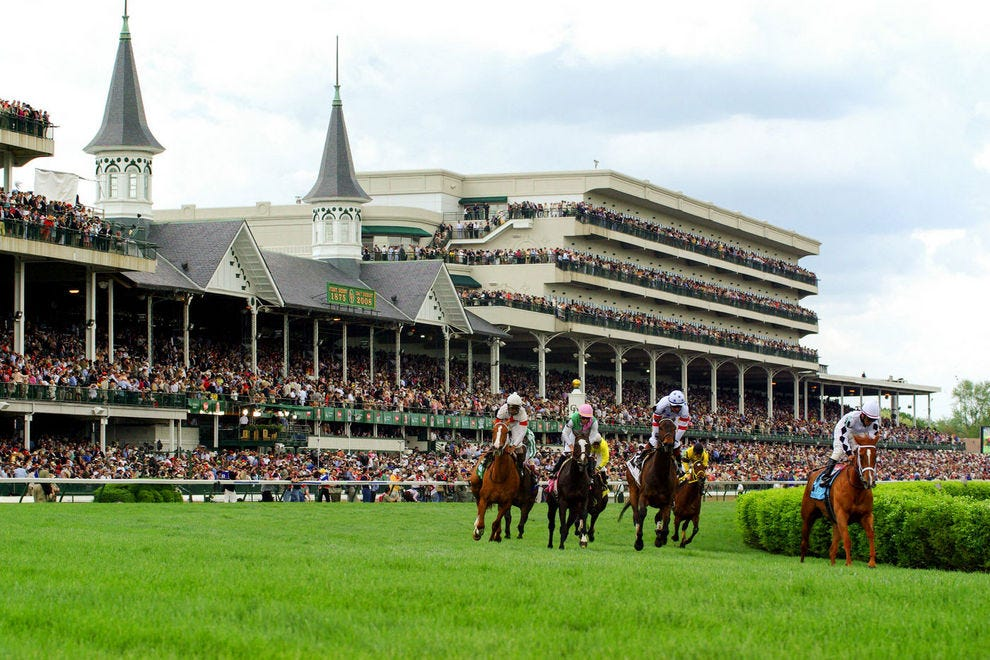 The Kentucky Derby is run annually on the first Saturday in May at Churchill Downs
