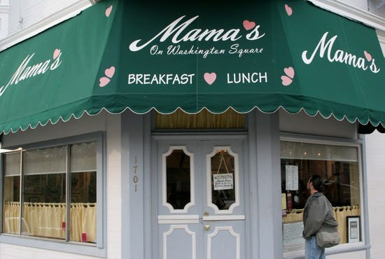 Mama S On Washington Square San Francisco Restaurants