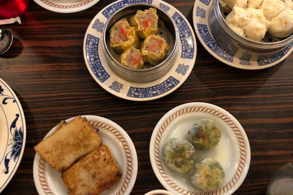 Enjoy a spread of Oriental House's delicious dim sum offerings